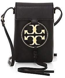 Tory Burch Women's Miller Metal Leather Crossbody Phone Case