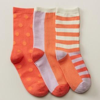 Love & Lore Crew Socks Coral 3-Pack