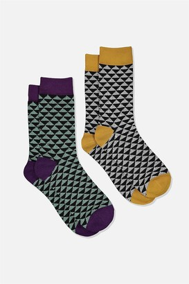 Cotton On Dress Socks 2 Pack