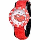 Disney Lightning McQueen Boys' Stainless Steel Watch, Red Strap