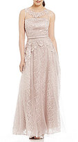 Decode 1.8 Illusion Neck Embroidered Lace Ball Gown
