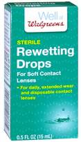 Walgreens Rewetting Drops for Soft Contact Lenses
