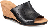 Clarks Collections Women's Helio Corridor Wedge Sandals