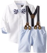 Mud Pie Baby-Boys Chambray 3 Pc Suit Set 9-12 months