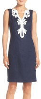 Eliza J Women's Embroidered Neck Sheath Dress