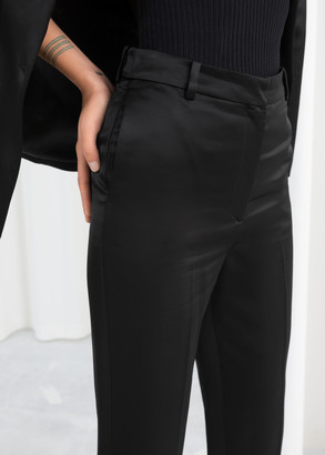 And other stories Slim Fit Satin Pants