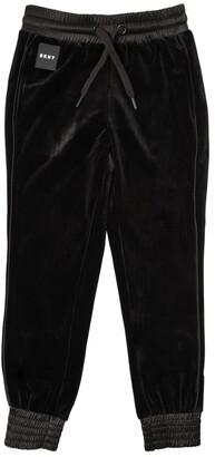 DKNY Velvet Pants W/ Nylon Detail