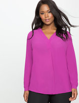 ELOQUII Plus Size Pleat Front Tunic