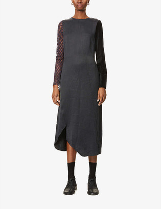 Song For The Mute Long-sleeved crepe midi dress