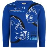 Kenzo KidsBlue Tiger & Lion Print Sweater