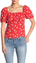 Elodie K Floral Empire Ruched Blouse