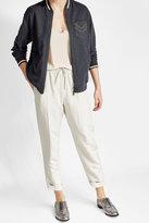 Brunello Cucinelli Zipped Cotton Jacket with Embellishment