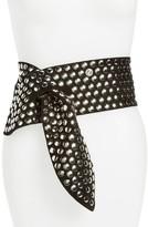 IRO Women's Lonanda Wide Studded Leather Belt