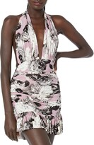 Thumbnail for your product : Norma Kamali Women's Ruffle Halter Mio Mini Dress One Piece Swimsuit