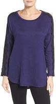 Bobeau Women's Lace Trim Dolman Sleeve Top