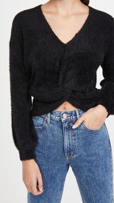 BB Dakota Got It Twisted Twist Front Sweater