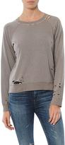 Monrow Vintage Crew Sweatshirt With Holes