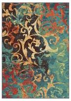 Orian Watercolor Scroll Multi Area Rug