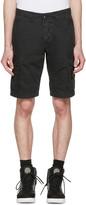 Stone Island Black Leg Patch Cargo Shorts