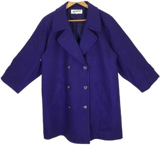 Bill Blass Blue Wool Trench Coat for Women