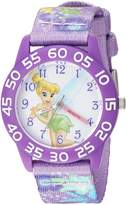 Disney Girl's 'Tinker Bell' Quartz Plastic and Nylon Casual Watch, Color: (Model: WDS000132)