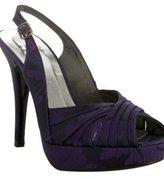 Stuart Weitzman purple jacquard 'Wicky' platform pumps