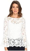 Karen Kane Lace Bell Sleeve Top Women's Clothing