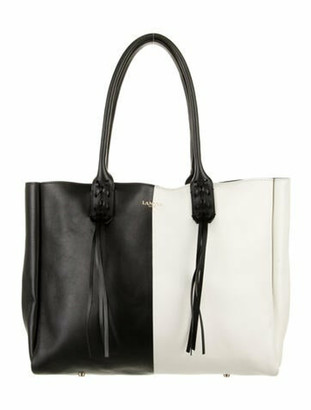 Lanvin Leather Tote Bag Black