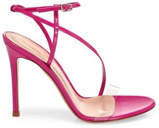 Gianvito Rossi Strappy Patent Leather Stiletto Sandals