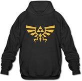 Sune Men's Legend Of Zelda Skyward Sword Triforce Logo Hooded Sweashirt