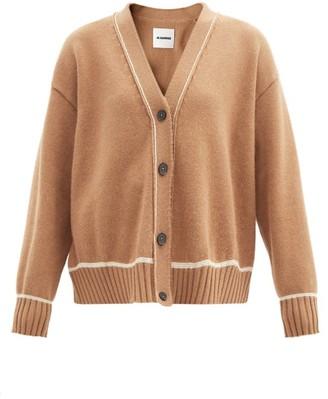 Jil Sander V-neck Wool-blend Cardigan - Mid Brown