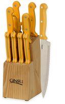 Ginsu Essential Series 10-Piece Knife Block Cutlery Set in Sunset Yellow