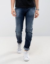 Jack and Jones Twist Jeans In Blue Wash