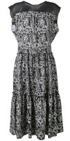 Marna Ro - floral pleated dress - women - Silk/Polyester - XS