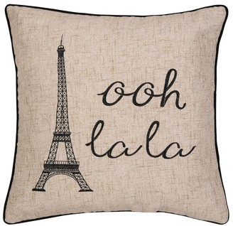 C&F Home Ooh La Paris Embroidered Decorative Accent Throw Pillow
