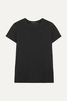ATM Anthony Thomas Melillo Schoolboy Slub Cotton-jersey T-shirt - Black