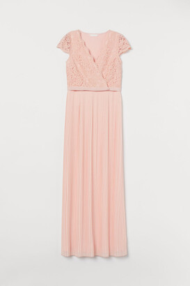 H&M MAMA Pleated Nursing Dress - Pink