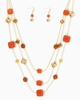 Charming charlie Square Beaded Necklace Set