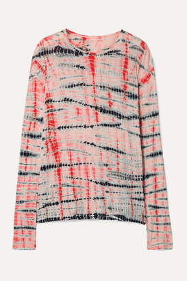 Proenza Schouler Tie-dyed Slub Cotton-jersey Top - Peach