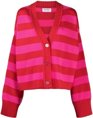 ATTICO V-neck striped cardigan