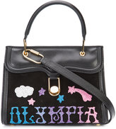 Olympia Le-Tan logo appliqué mini tote - women - Leather - One Size
