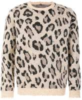 R 13 leopard intarsia jumper