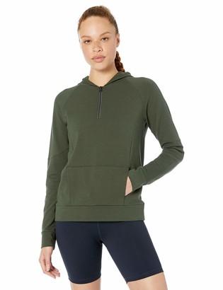 Core 10 Amazon Brand Women's Soft Cotton Modal French Terry Fleece 1/4 Zip Hoodie Sweatshirt