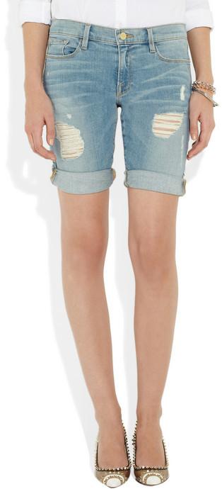 Frame Denim Le Garcon distressed Bermuda shorts