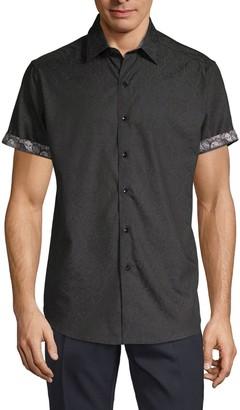 Robert Graham Equinox Tone-On-Tone Short-Sleeve Shirt