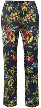 F.R.S For Restless Sleepers Tartaro Printed Hammered-silk Straight-leg Pants