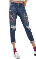 Topshop Women's Lucas Beaded Boyfriend Jeans