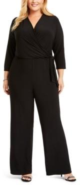 NY Collection Plus Size Surplice Jumpsuit