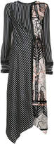 Yigal Azrouel fringe detailed stripe dress