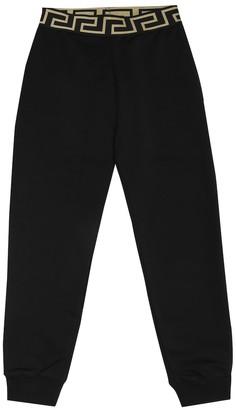 Versace Kids Cotton-jersey trackpants